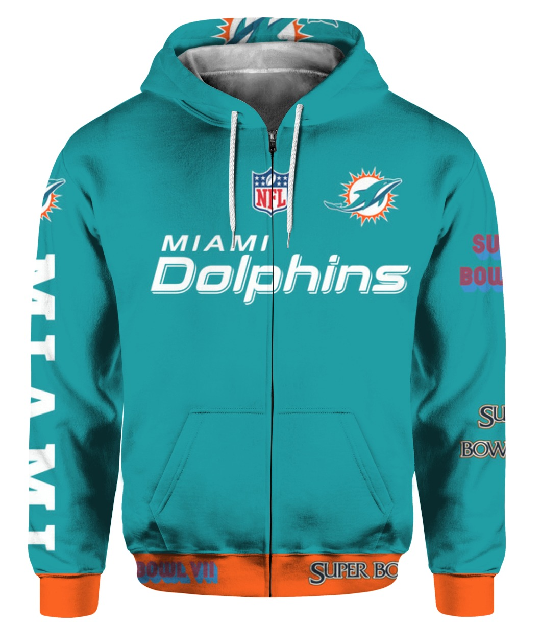 Stand for the flag kneel for the cross miami dolphins all over print zip hoodie