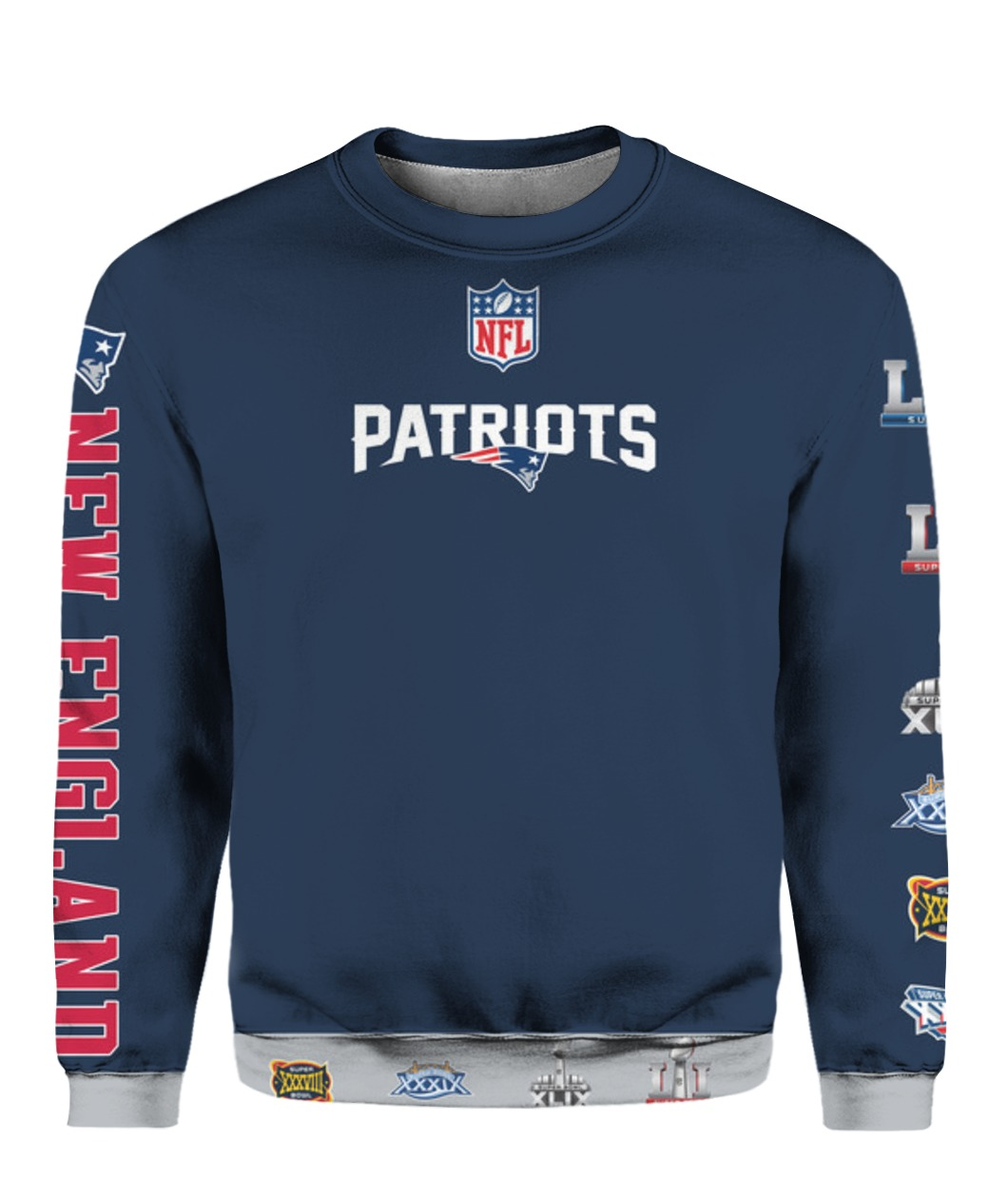 Stand for the flag kneel for the cross new england patriots all over print sweatshirt