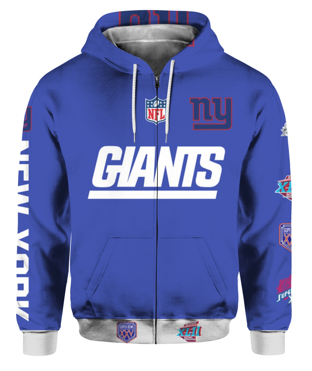 Stand for the flag kneel for the cross new york giants all over print zip hoodie