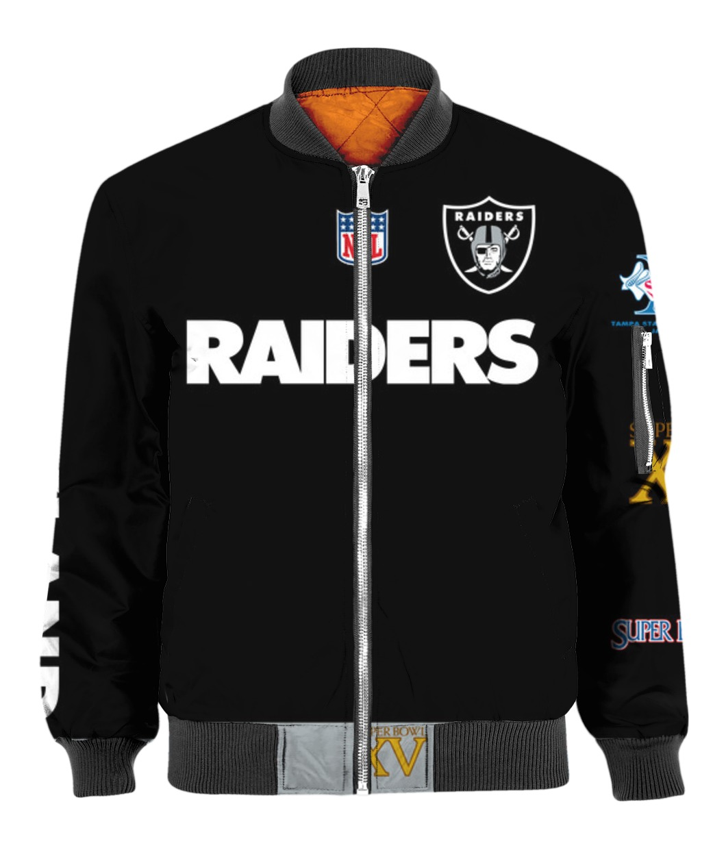 Stand for the flag kneel for the cross oakland raiders all over print bomber