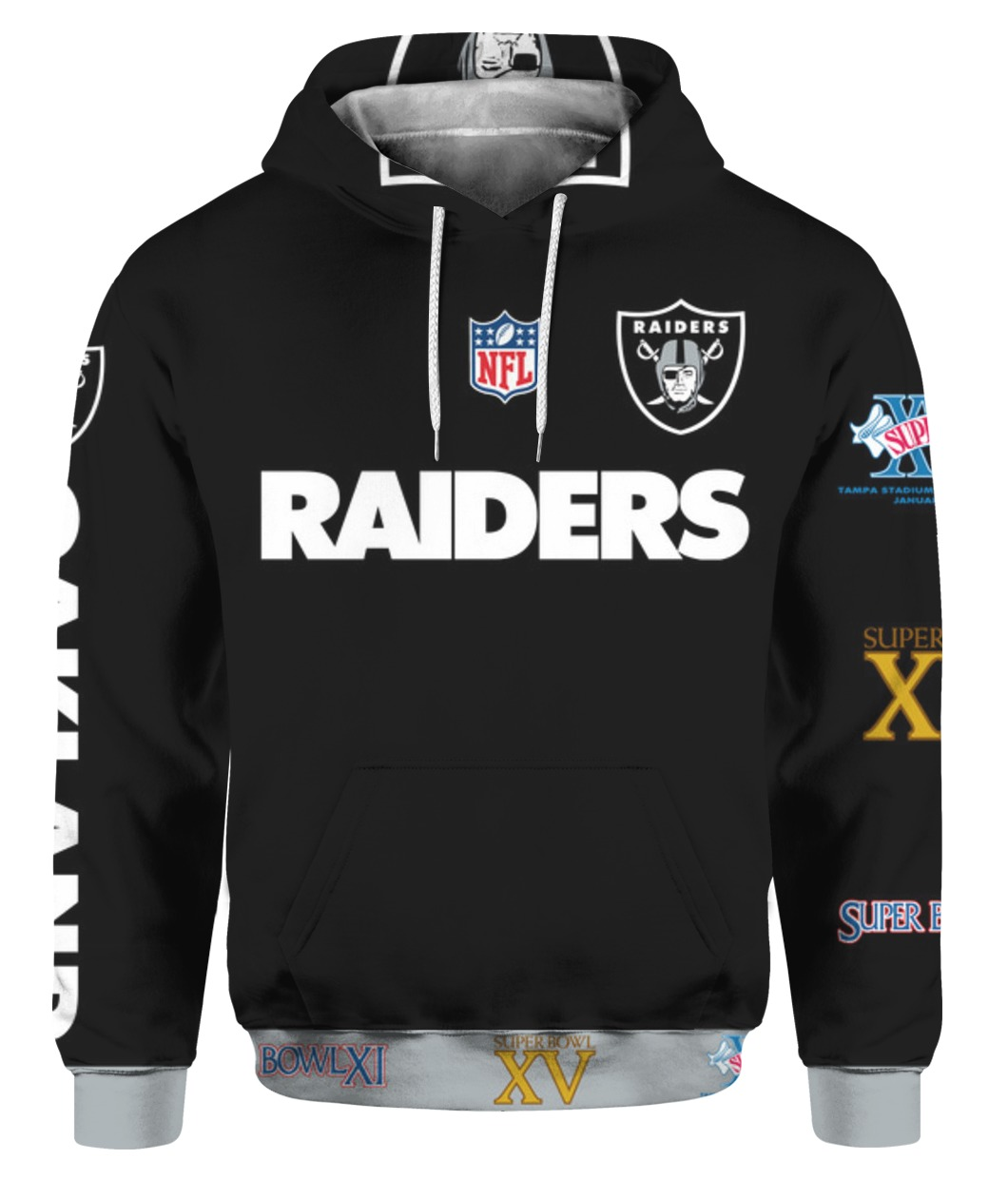 Stand for the flag kneel for the cross oakland raiders all over print hoodie