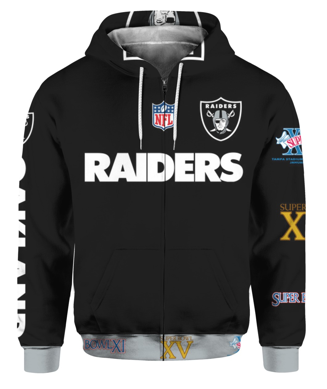 Stand for the flag kneel for the cross oakland raiders all over print zip hoodie