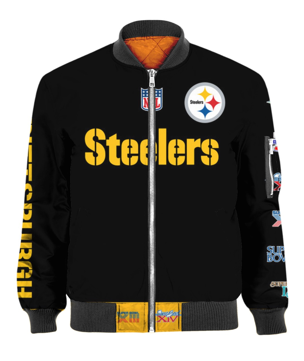 Stand for the flag kneel for the cross pittsburgh steelers all over print bomber