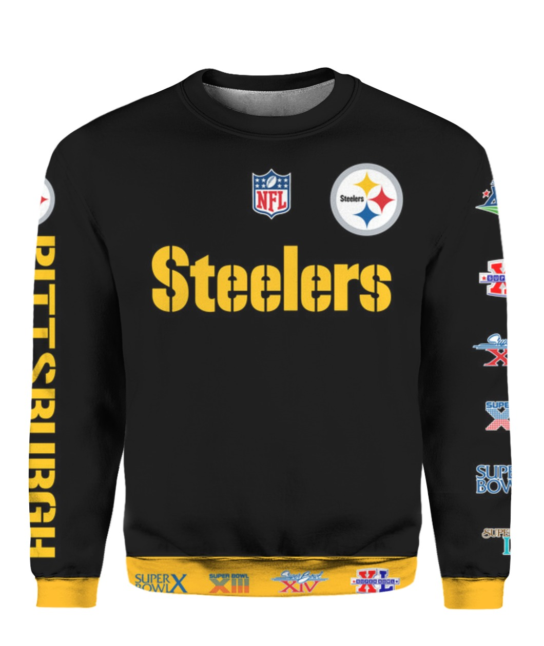 Stand for the flag kneel for the cross pittsburgh steelers all over print sweatshirt