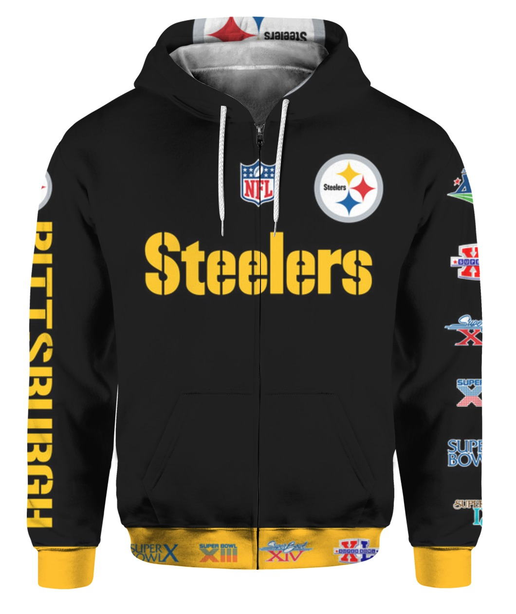 Stand for the flag kneel for the cross pittsburgh steelers all over print zip hoodie