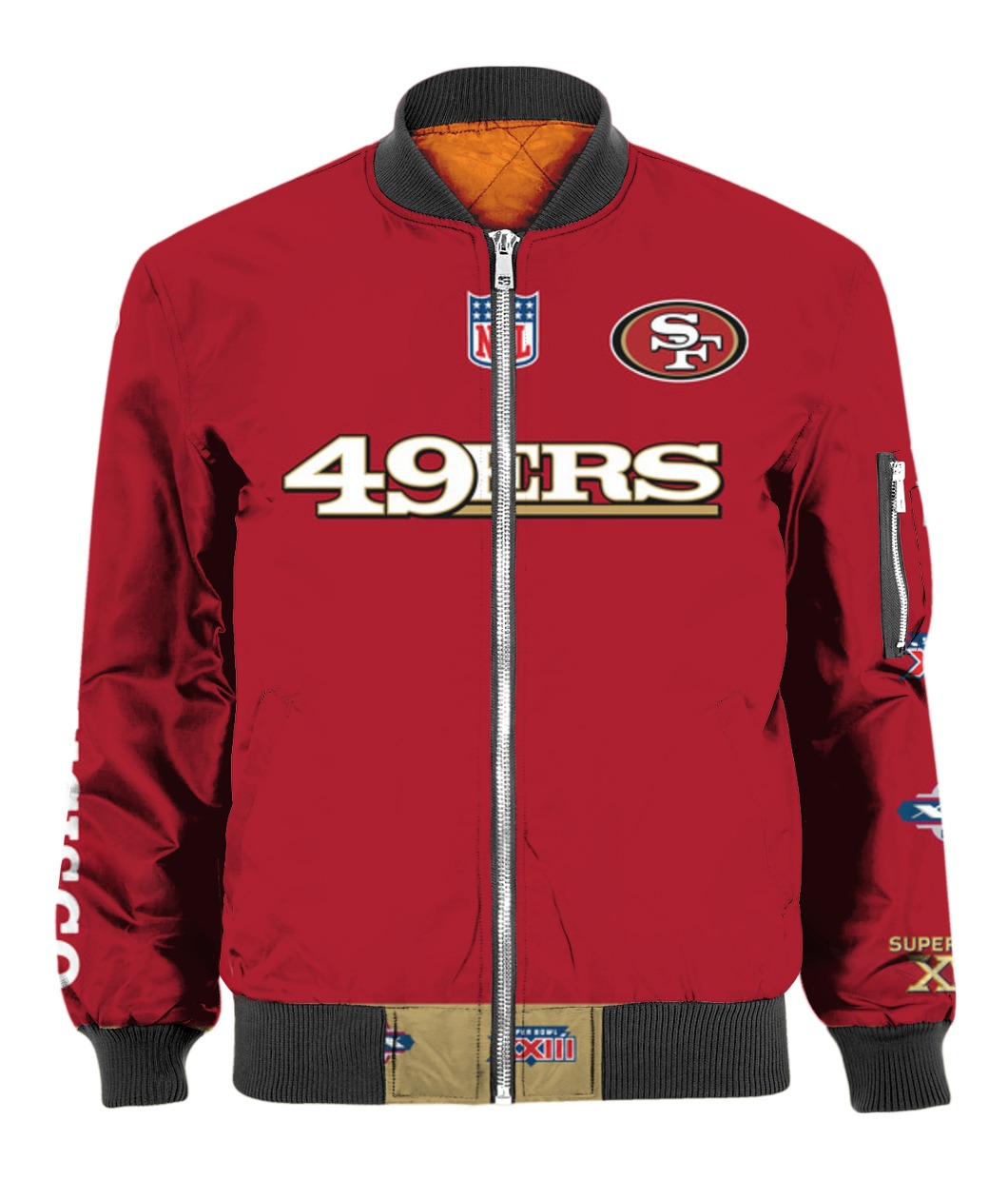 Stand for the flag kneel for the cross san francisco 49ers all over print bomber