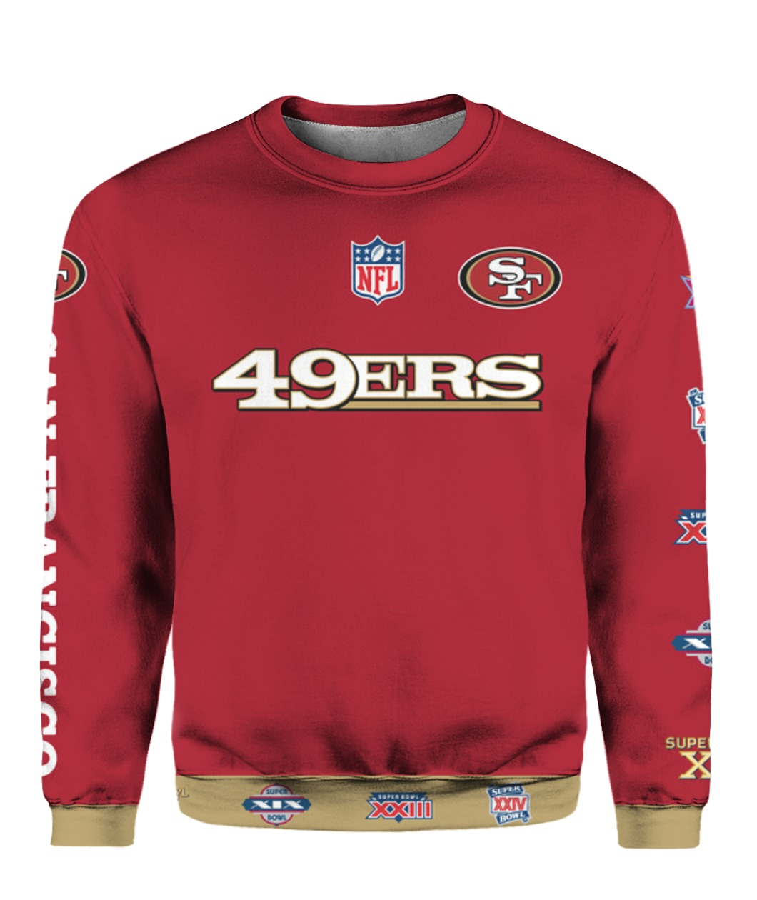 Stand for the flag kneel for the cross san francisco 49ers all over print sweatshirt