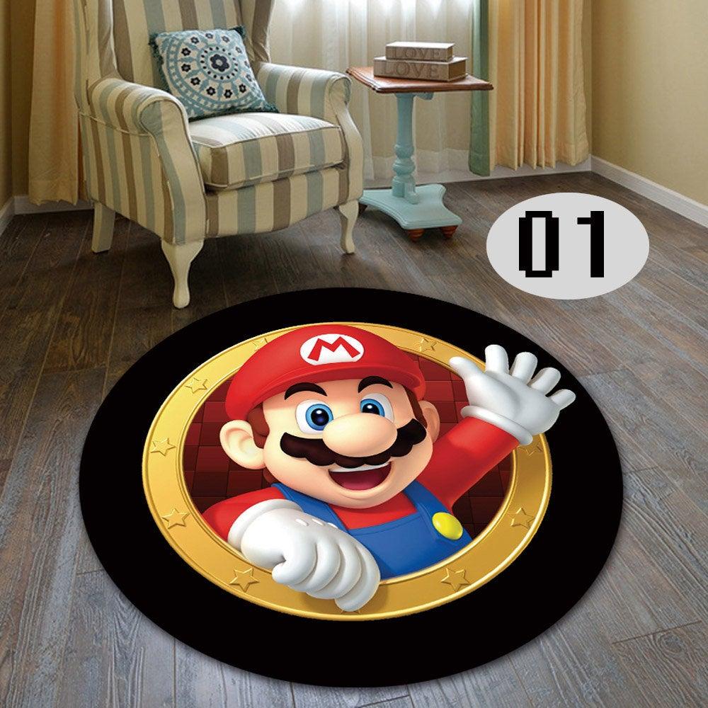 Super mario living room bedroom round carpet 4