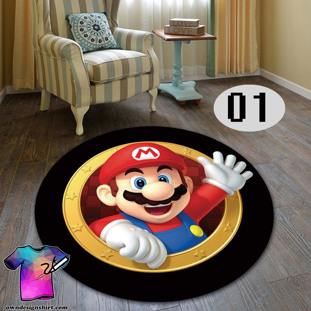 Super mario living room bedroom round carpet