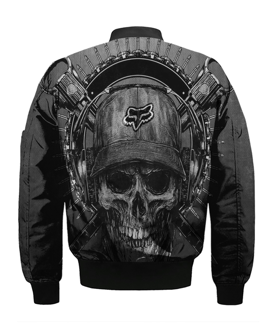 Terror noise division fox racing all over print bomber - back