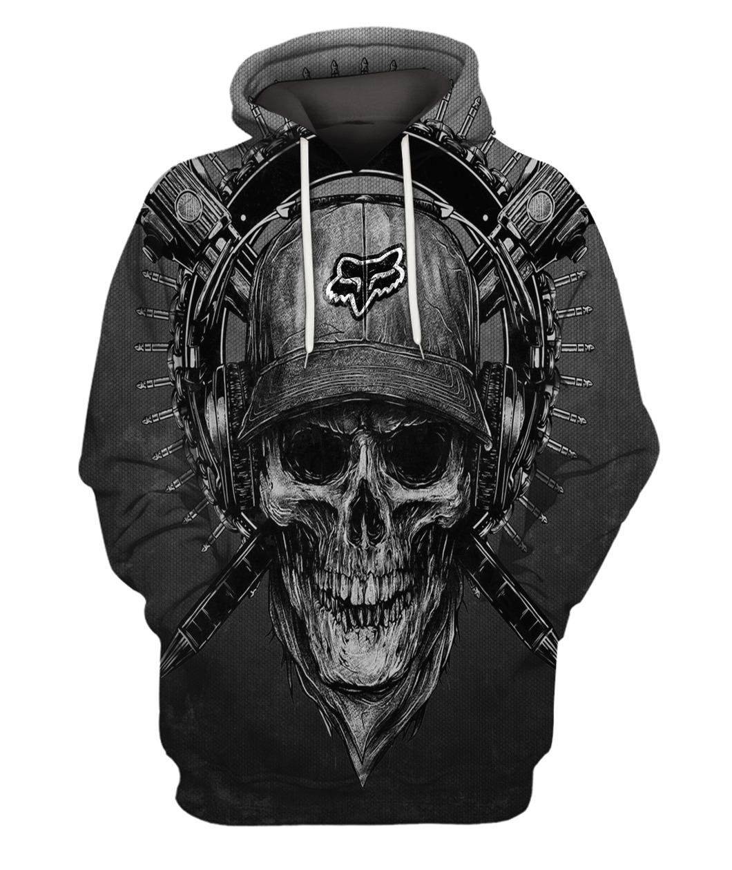 Terror noise division fox racing all over print hoodie 1