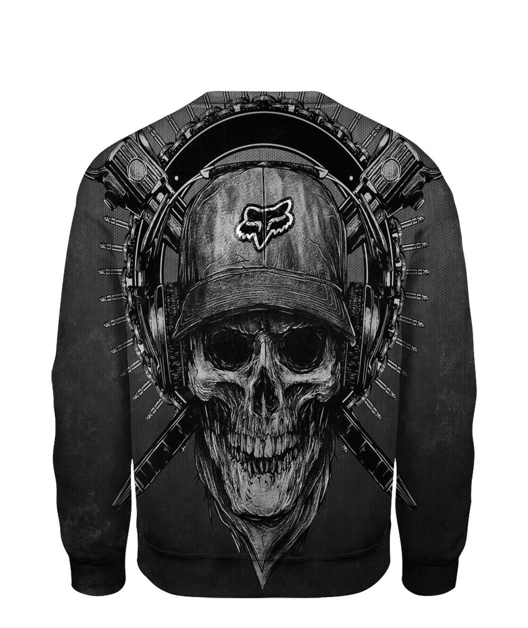 Terror noise division fox racing all over print sweatshirt - back