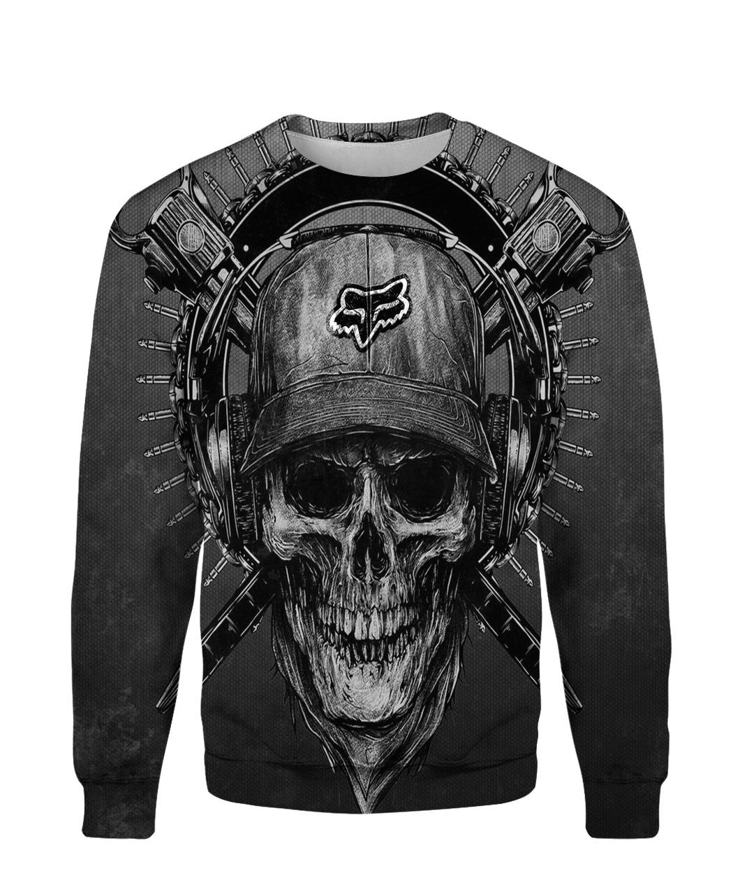 Terror noise division fox racing all over print sweatshirt