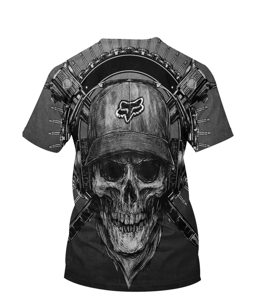 Terror noise division fox racing all over print tshirt - back