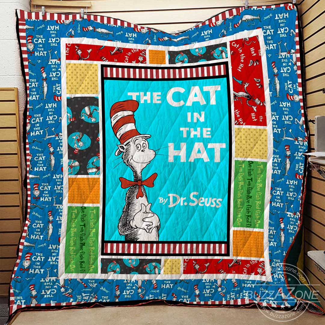 The cat in the hat dr seuss quilt 2