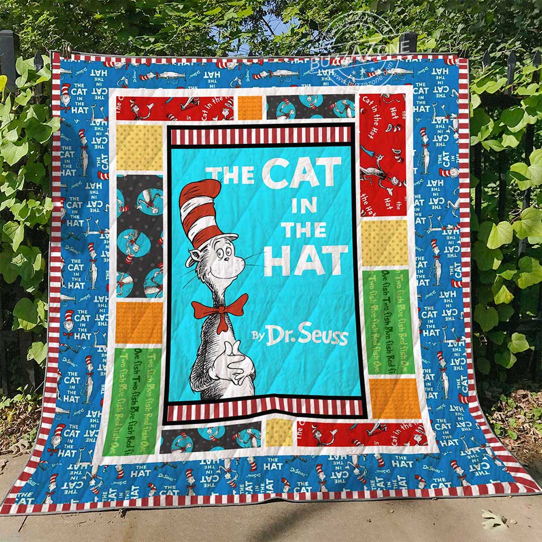 The cat in the hat dr seuss quilt 3