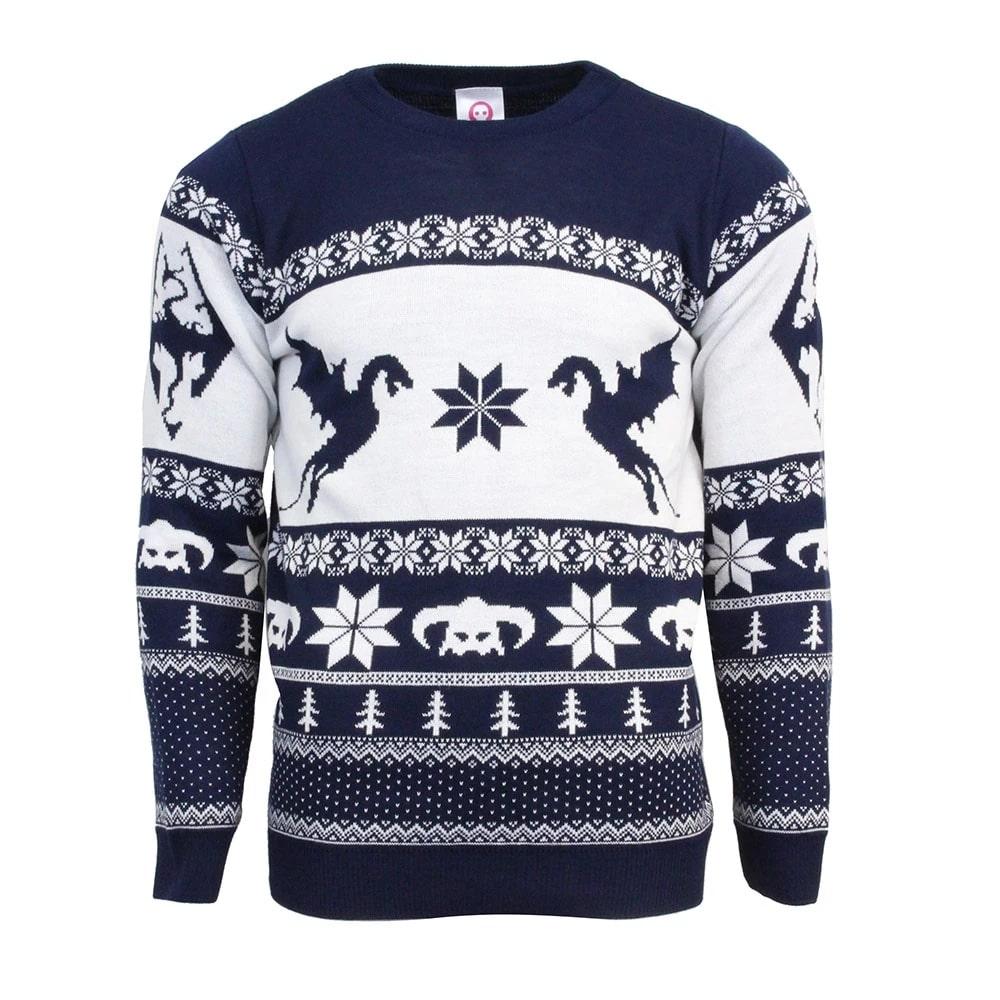The elder scrolls v skyrim ugly christmas sweater 1
