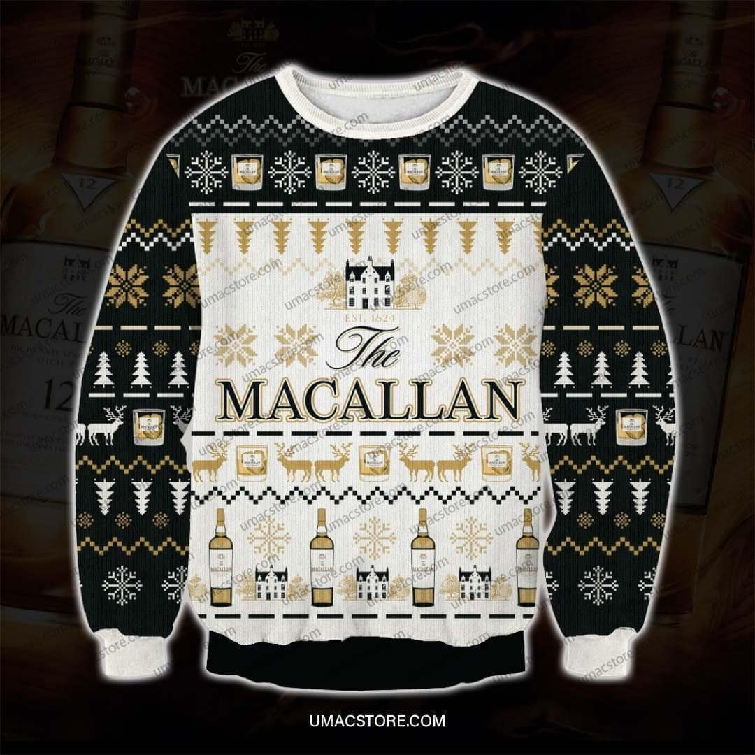 The macallan full printing ugly christmas sweater 4