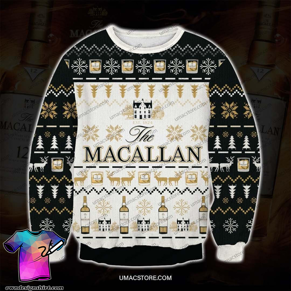The macallan full printing ugly christmas sweater