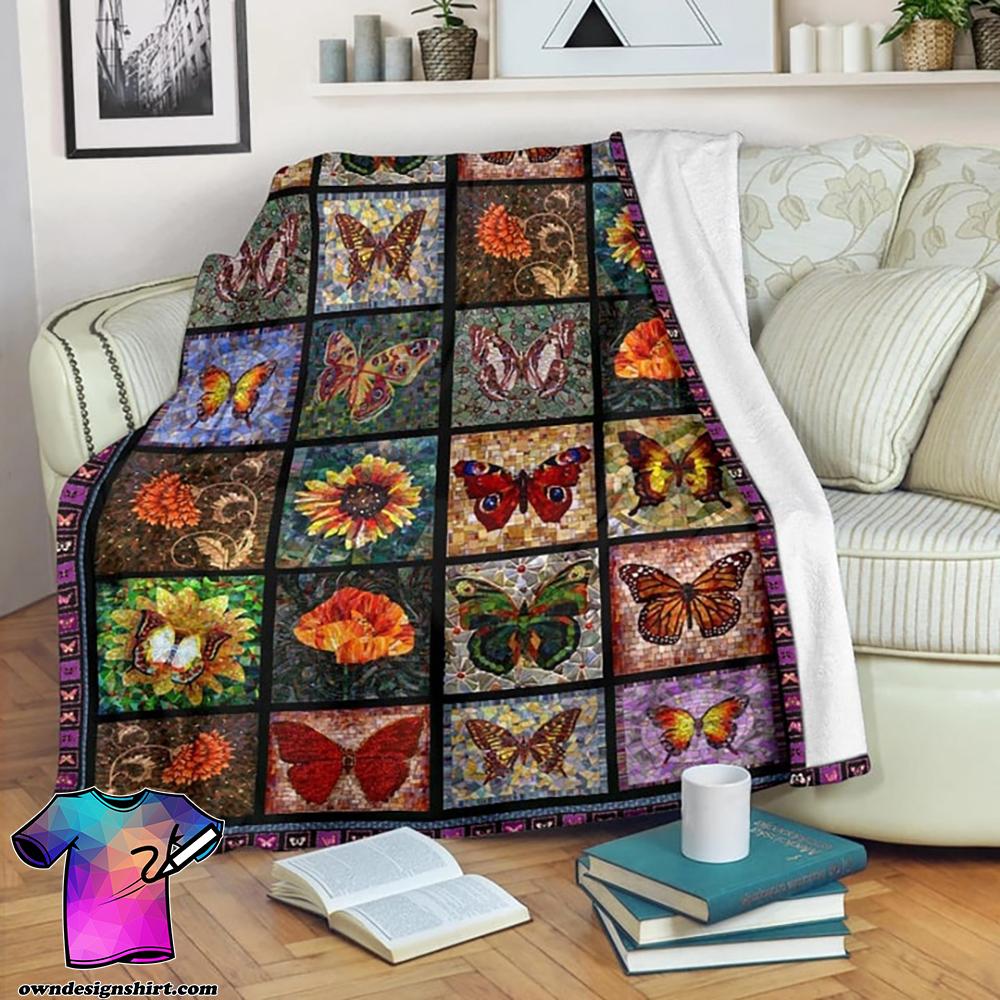 The voyage of butterflies fleece blanket