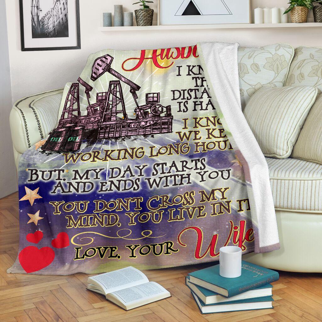 To my husband an oilfield man blanket 2