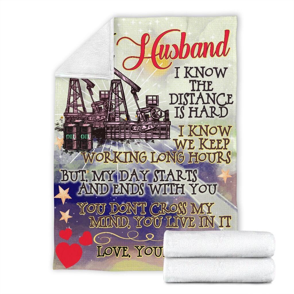 To my husband an oilfield man blanket 4
