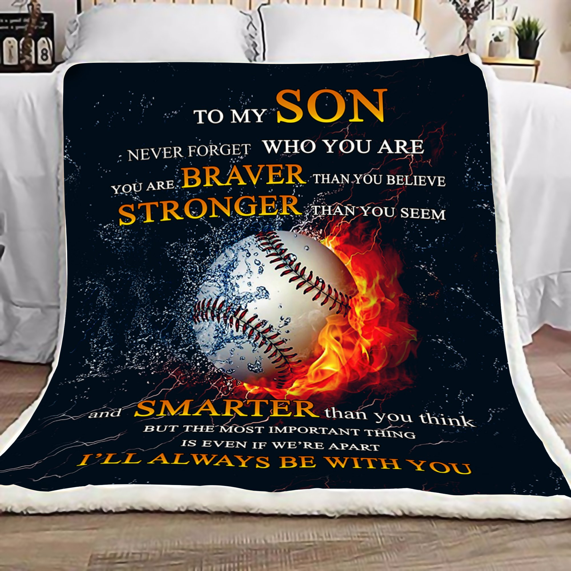 To my son never forget who you are baseball blanket 1