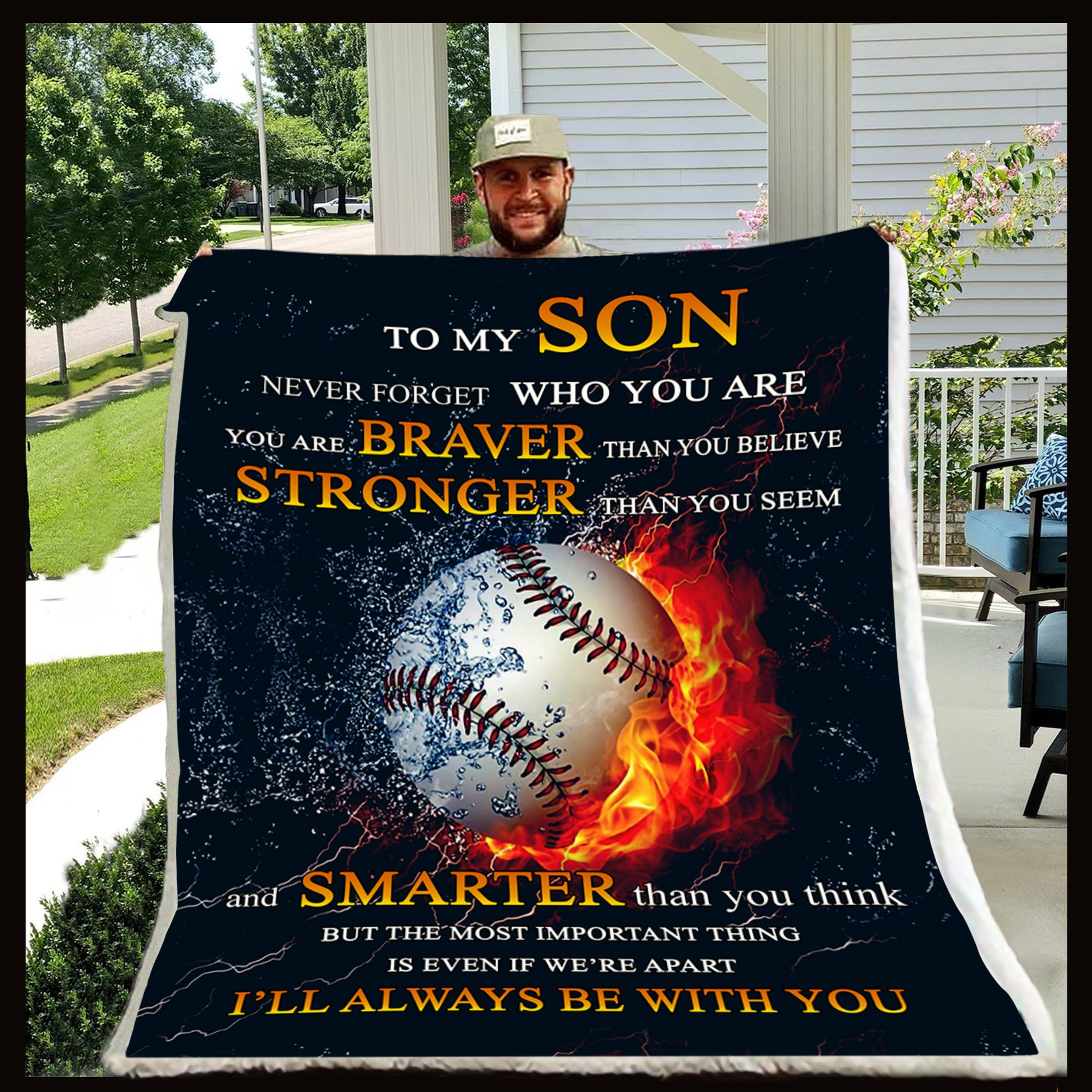 To my son never forget who you are baseball blanket 2