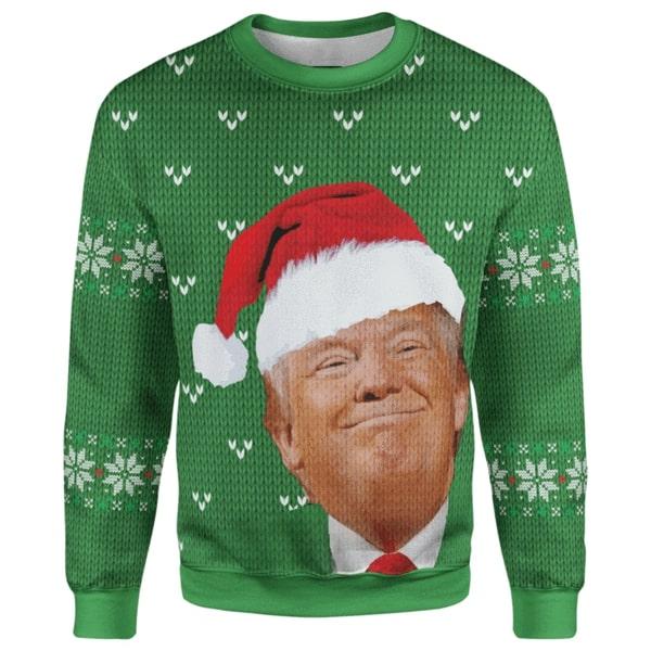 Trump smirking christmas full printing sweater 4