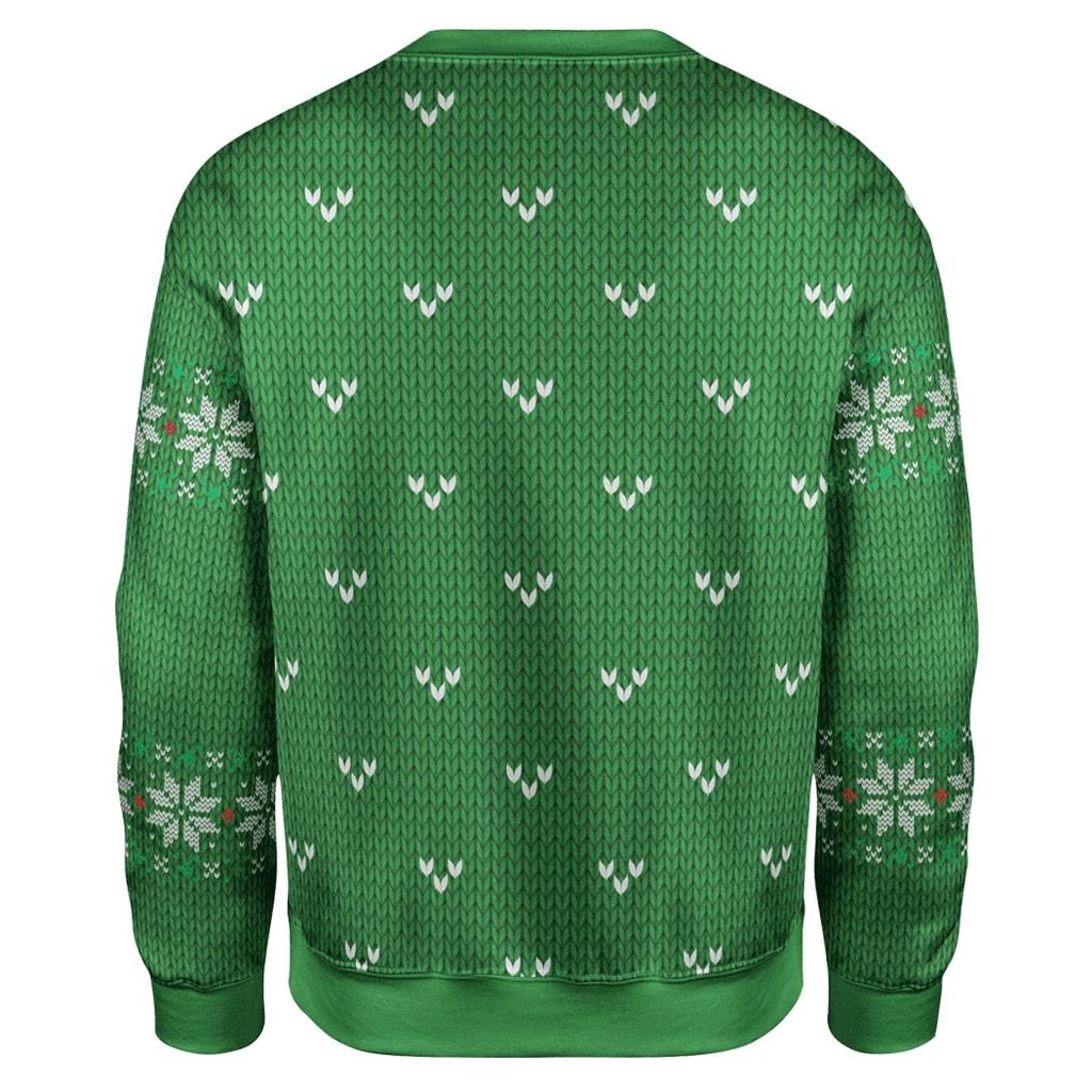 Trump smirking christmas full printing sweater - back