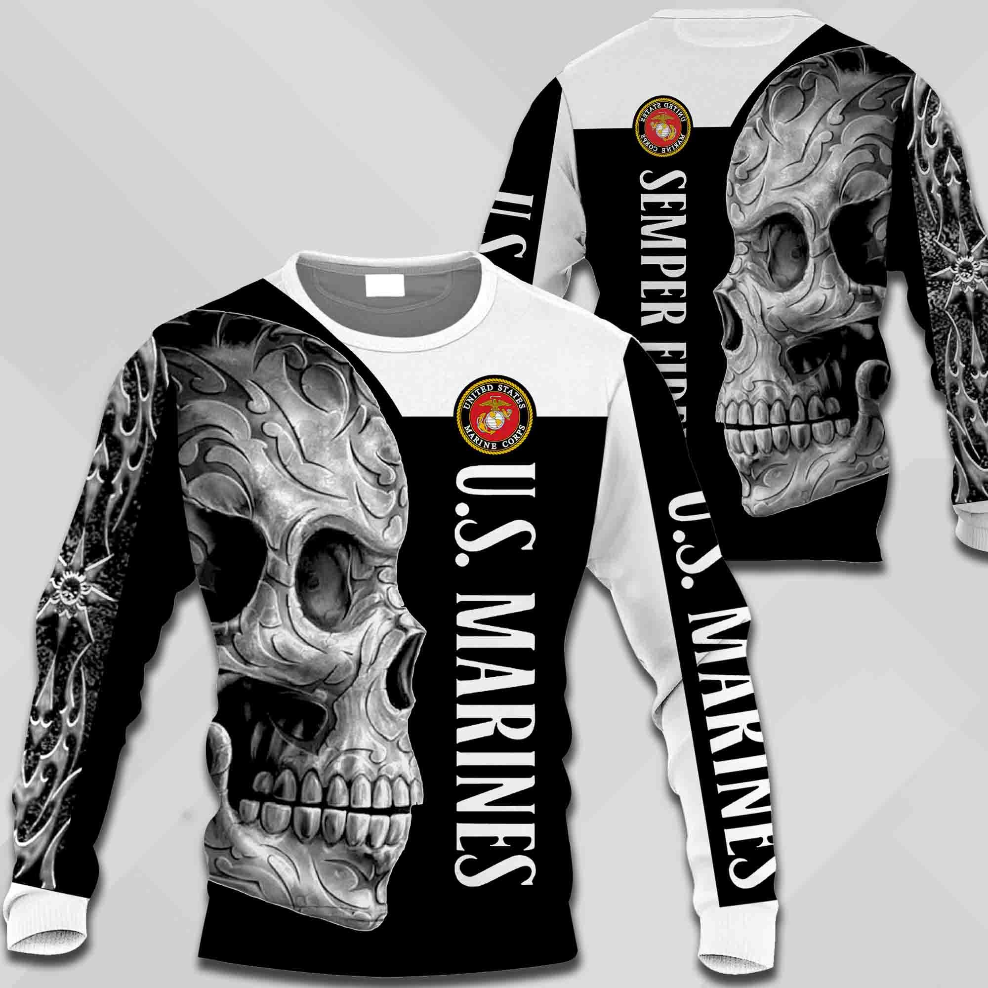 US marine corps semper fidelis all over print sweatshirt 1