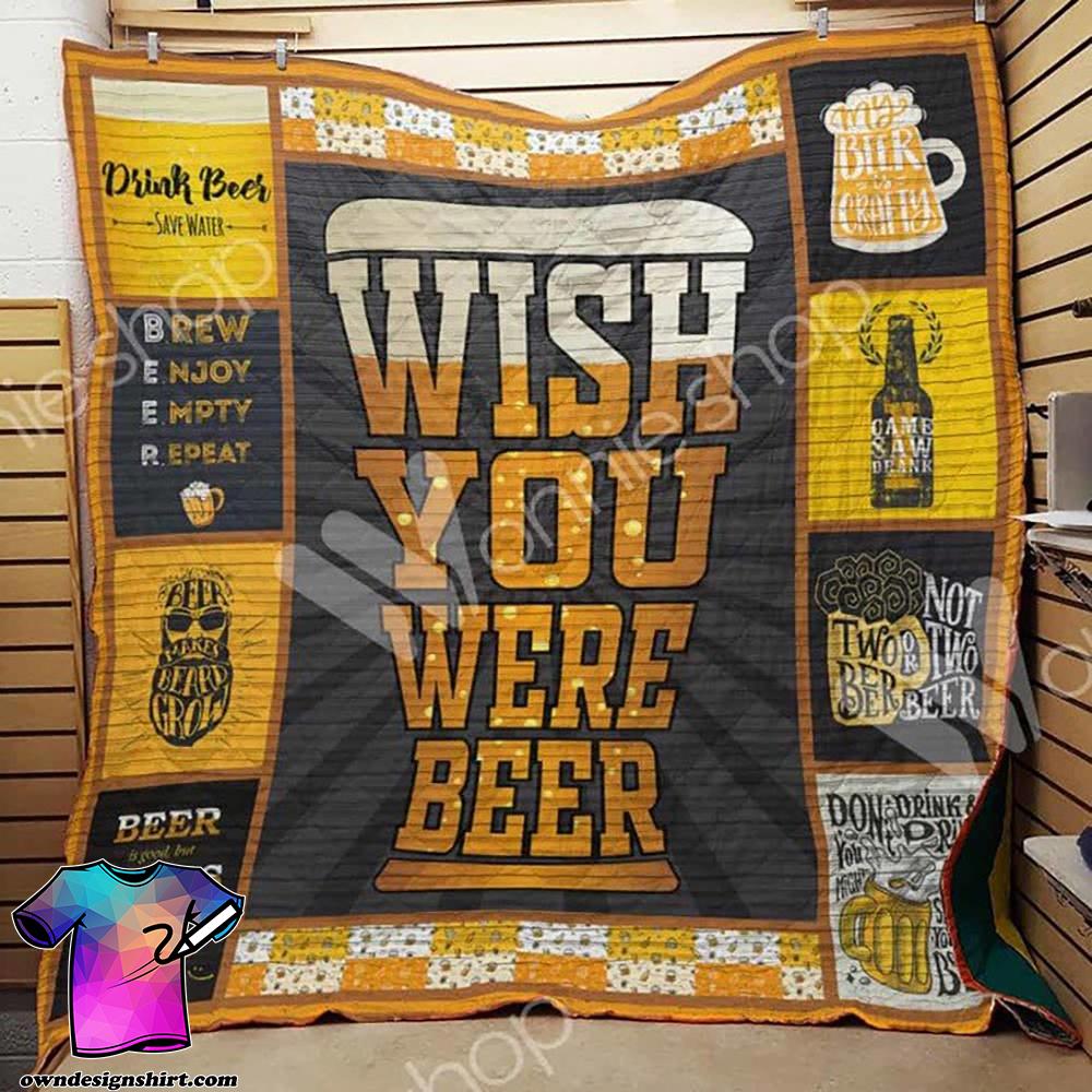 Wish you were beer quilt