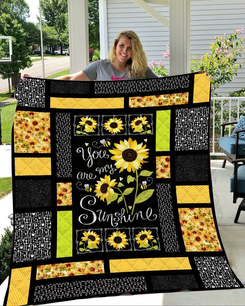 You are my sunshine sunflower quilt 1