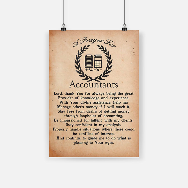 A prayer for accountants lord thank you for always being the great provider poster 3
