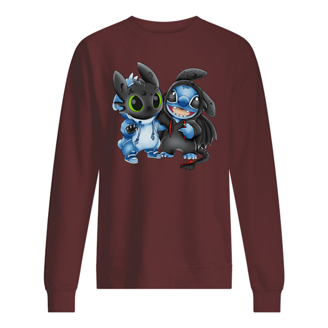 Baby stitch and baby toothless sweatshirt