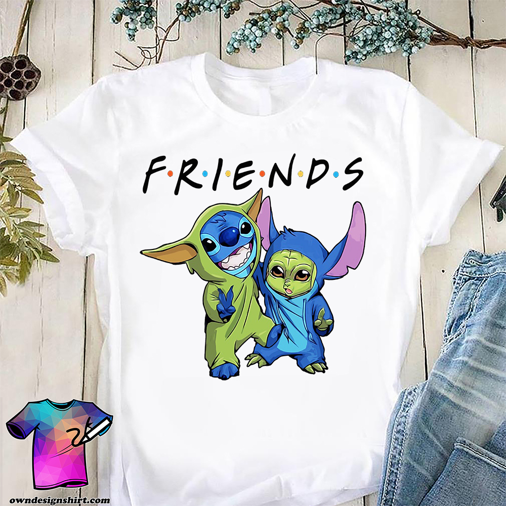 Baby stitch and baby yoda friends star wars shirt