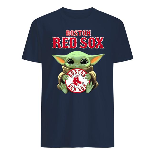 Baby yoda hug boston red sox mens shirt