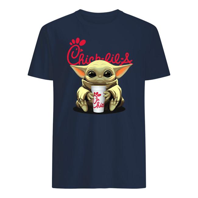 Baby yoda hug chick-fil-a mens shirt