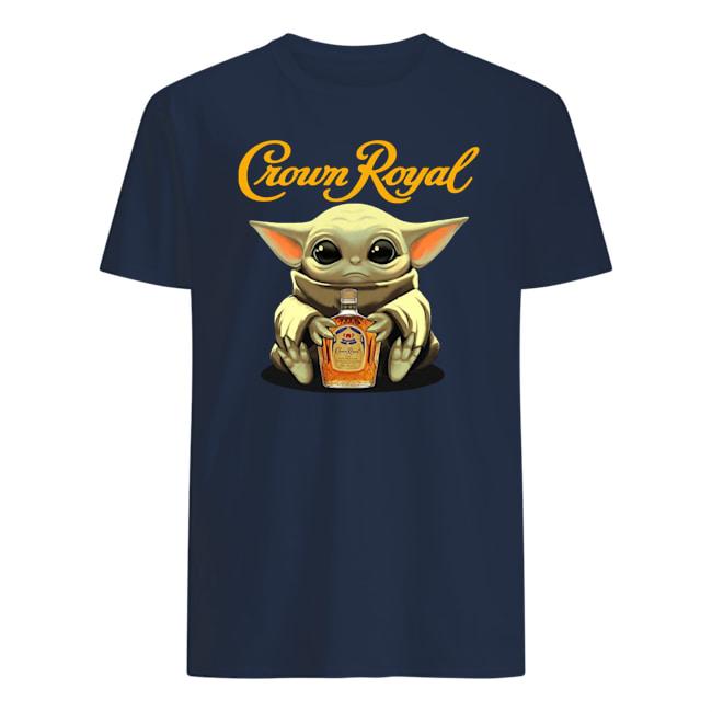 Baby yoda hug crown royal mens shirt