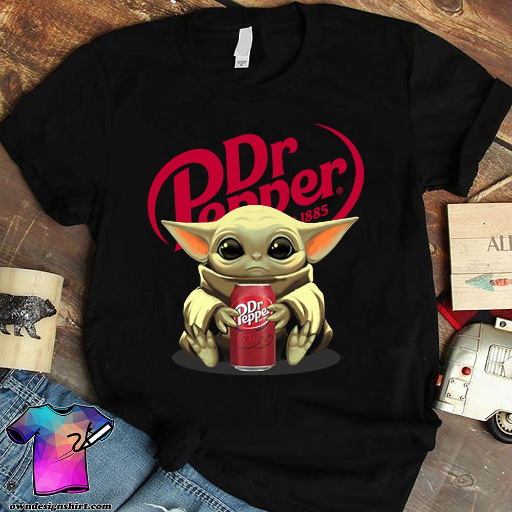 Baby yoda hug dr pepper star wars shirt