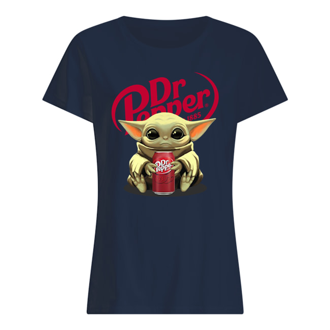 Baby yoda hug dr pepper star wars womens shirt