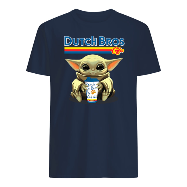Baby yoda hug dutch bros coffee mens shirt