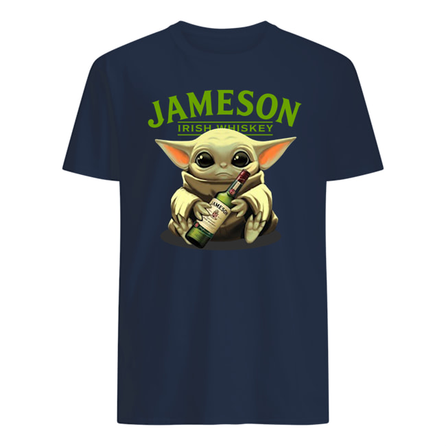 Baby yoda hug jameson irish whiskey star wars mens shirt