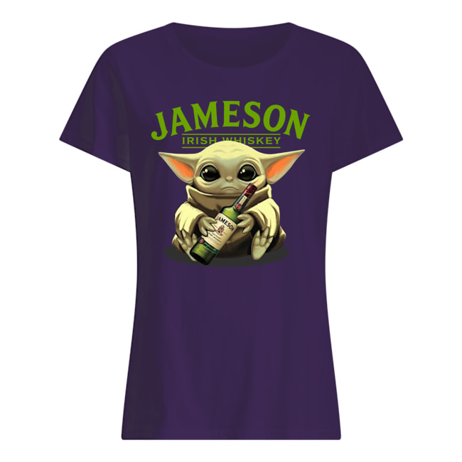 Baby yoda hug jameson irish whiskey star wars womens shirt