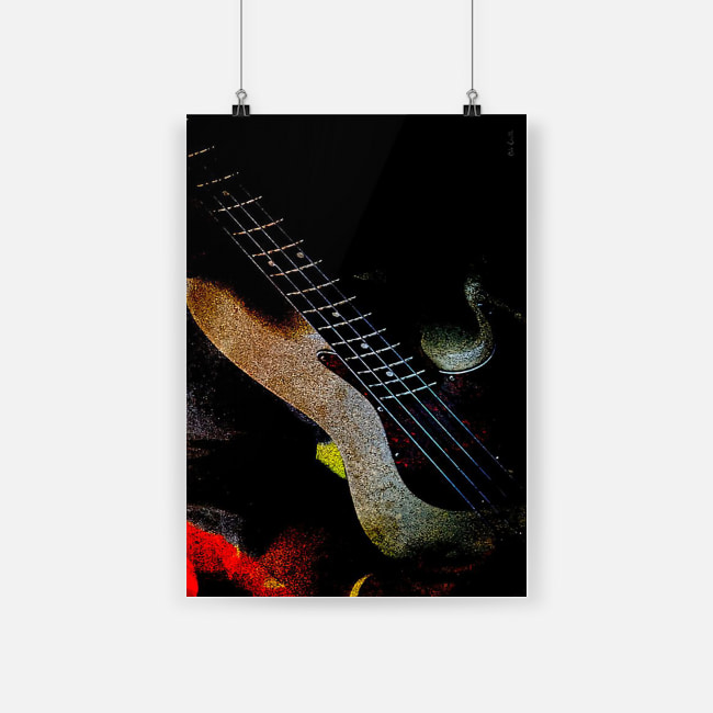 Bass guitar community amazing fender jazz bass poster 1