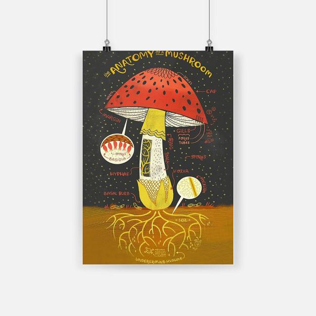 Beautiful mushrooms for life the anatomy of a mushroom poster 3