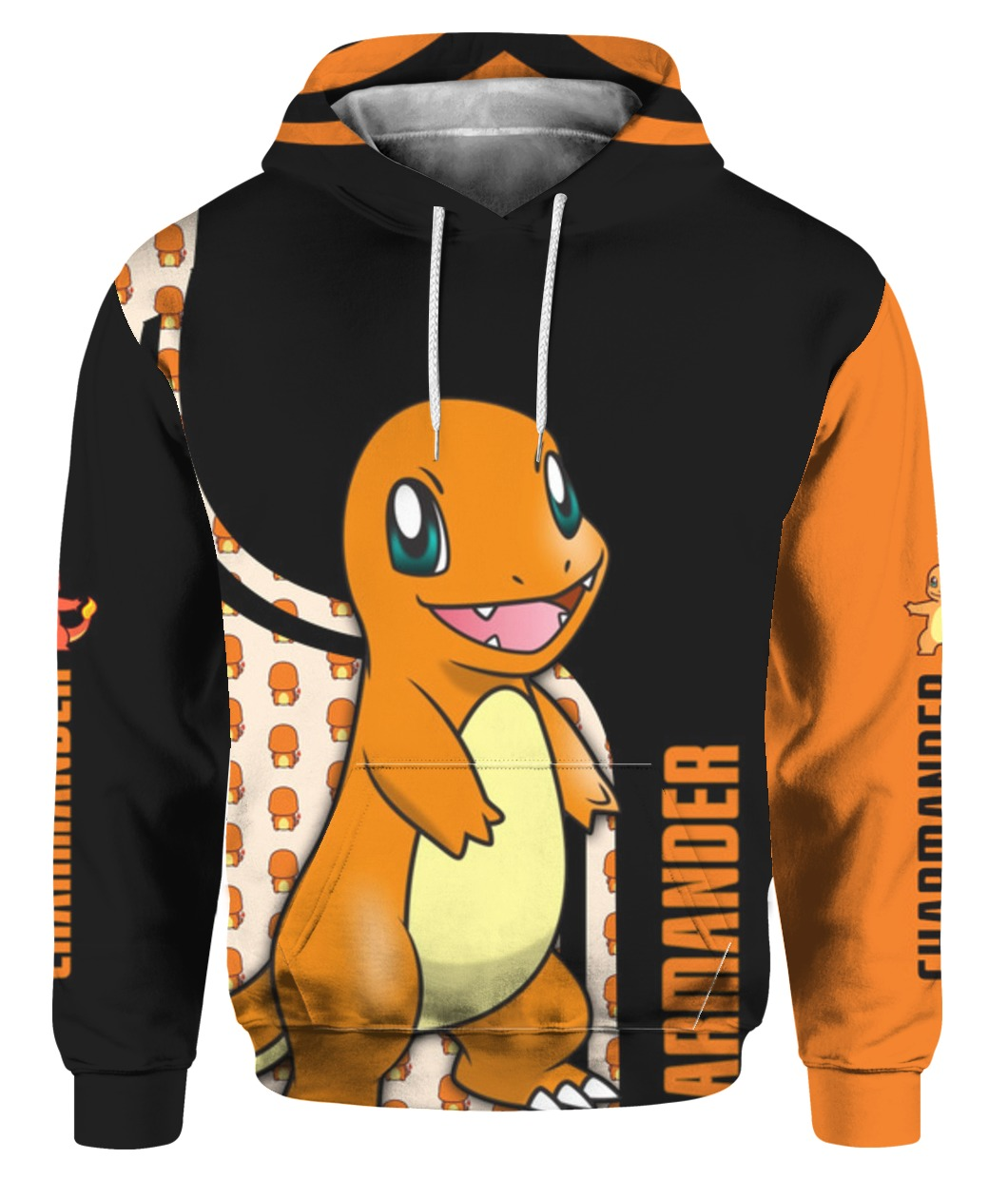 Charmander pokemon all over printed hoodie 1
