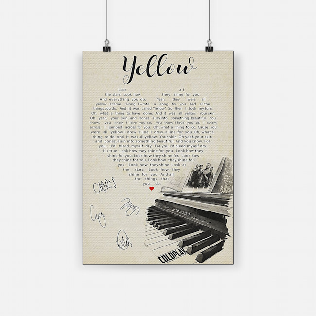 Coldplay yellow lyric poster 2