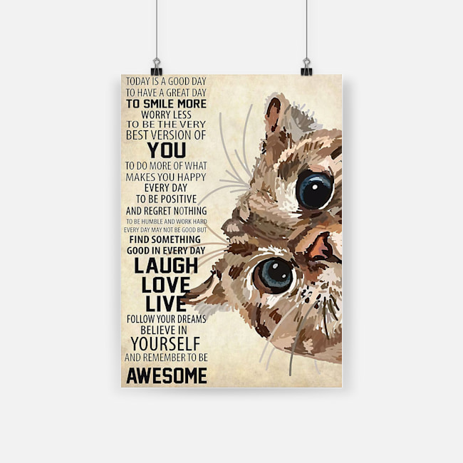 Cute cat today is a good day to have a great day poster 2