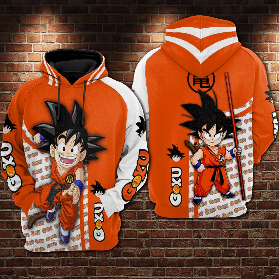 Dragon ball son goku all over printed hoodie 1